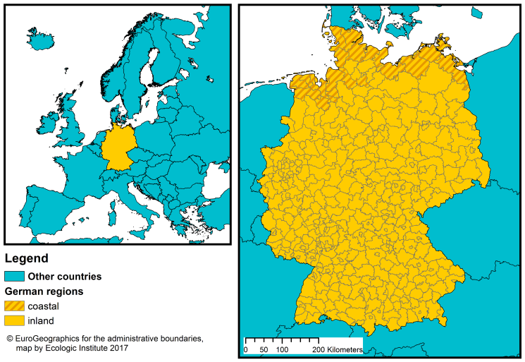 Regions Of Germany Map.Germany Coastal Management Webguide Risc Kit