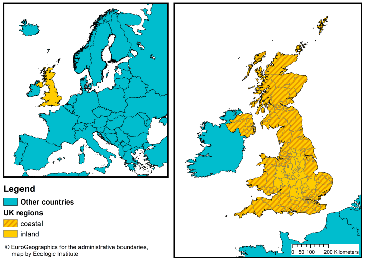 Map Of Uk With Countries.England Uk Coastal Management Webguide Risc Kit